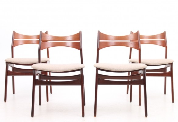 Set of 4 Model 310 dinner chairs from the fifties by Erik Buch for Christiansen Møbelfabrik