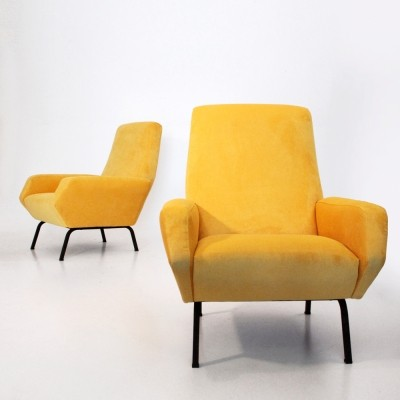 Set of 2 arm chairs from the sixties by unknown designer for Busnelli
