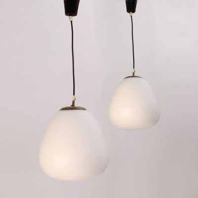 Set of 4 hanging lamps from the fifties by unknown designer for unknown producer