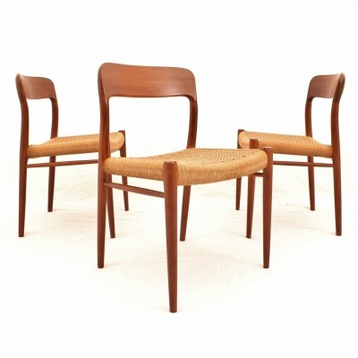 Danish Teak dining chairs by Niels Otto Møller for J.L. Møller