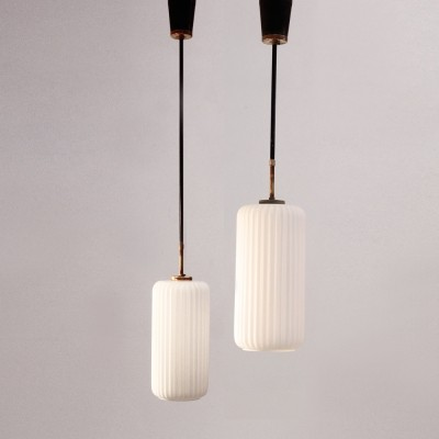 Set of 12 hanging lamps from the fifties by unknown designer for unknown producer
