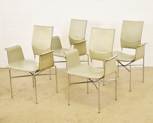 Set of 4 dinner chairs from the seventies by unknown designer for Matteo Grassi
