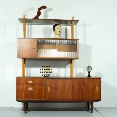 Wall unit from the fifties by unknown designer for unknown producer
