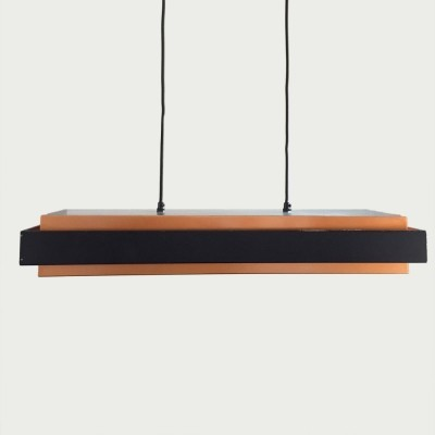 Dano rectangular hanging lamp from the sixties by Jo Hammerborg for Fog & Mørup
