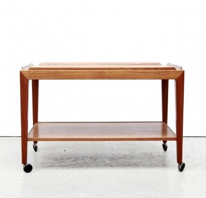 Tea Trolley serving trolley by Severin Hansen Jr for Haslev Møbelsnedkeri, 1950s