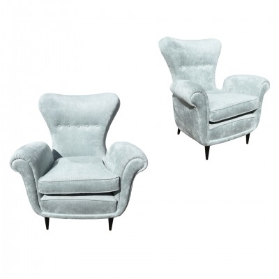 A pair of armchairs designed by Paolo Buffa ca.1950s