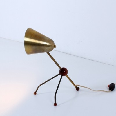 Desk lamp from the fifties by Jean Boris Lacroix for unknown producer