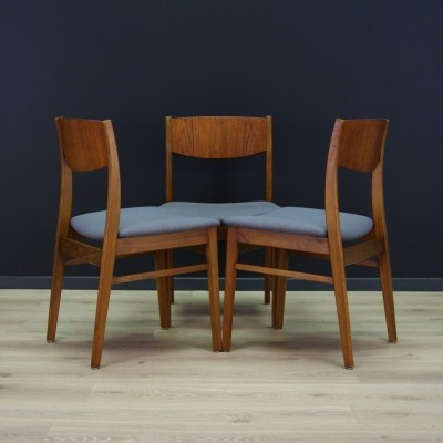 Set of 3 dinner chairs from the seventies by unknown designer for unknown producer