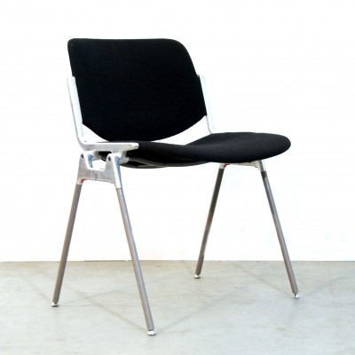 8 DSC Axis 106 dinner chairs from the seventies by Giancarlo Piretti for Castelli