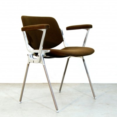 2 DSC Axis 106 dinner chairs from the seventies by Giancarlo Piretti for Castelli