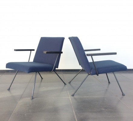2 x Model 1409 arm chair by André Cordemeyer for Gispen, 1950s