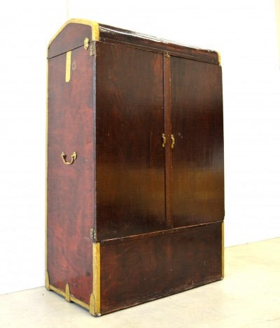 Campaign Trunk cabinet from the twenties by unknown designer for unknown producer
