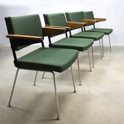 Set of 4 arm chairs by André Cordemeyer for Gispen, 1960s