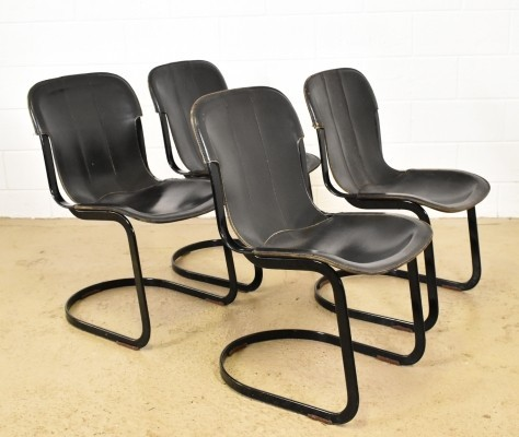 Set of 4 C2 dinner chairs by Cidue, 1960s