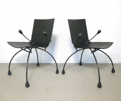 Set of 2 arm chairs from the eighties by Pierre Mazairac & Karel Boonzaaijer for Young International