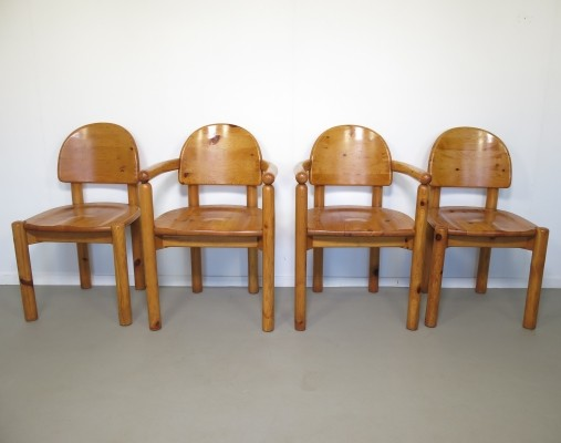 Set of 4 dinner chairs from the seventies by Rainer Daumiller for Hirtshal Sawmill