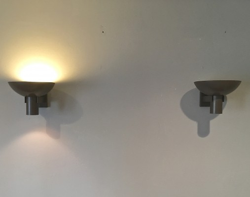 Set of 2 ND60D Argenta wall lamps from the sixties by Louis Kalff for Philips