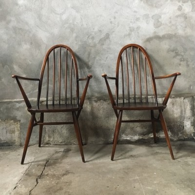 Set of 2 Quaker dinner chairs from the fifties by Lucian Randolph Ercolani for Ercol