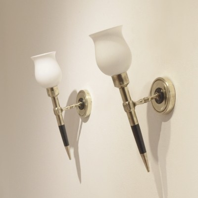 Set of 2 wall lamps from the fifties by unknown designer for Arlus