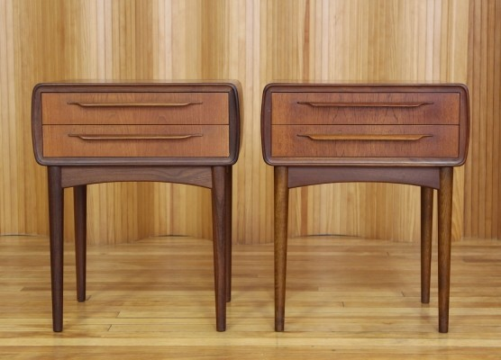 Set of 2 side tables from the fifties by Johannes Andersen for CFC Silkeborg