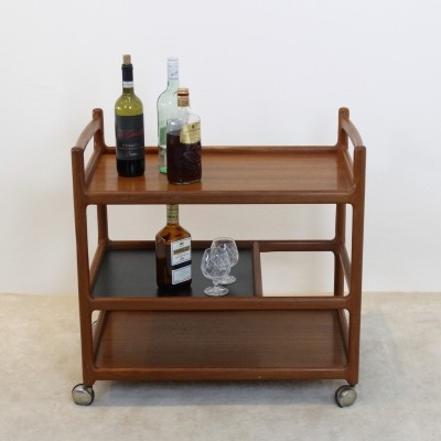 Teak Bar Cart by Johannes Andersen for CFC Silkeborg, Denmark