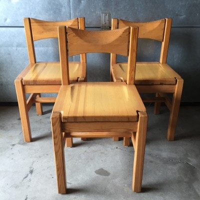 Set of 3 Hongisto dinner chairs by Ilmari Tapiovaara for Laukaan Puu Finnland, 1960s