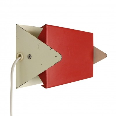 Red & white bed side wall light by J. Hoogervorst for Anvia, 1960s