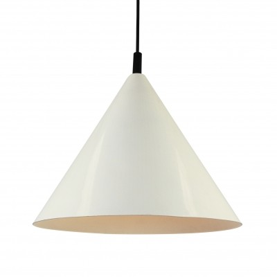 White Philips NPS 86 cone pendant light, 1960s