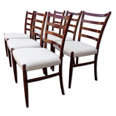 Set of 6 dining chairs by Johannes Andersen for Schou Andersen SVA Møbler, 1960s