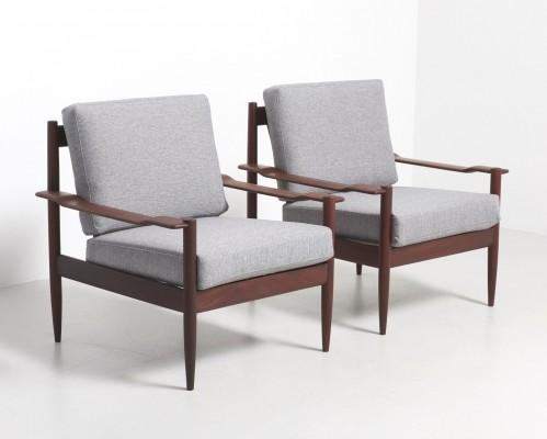 4 lounge chairs from the fifties by unknown designer for unknown producer