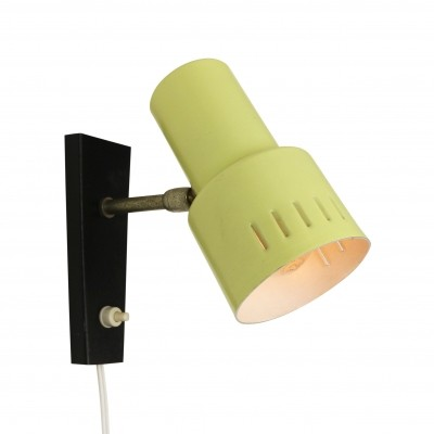 Bright yellow & black wall light from the sixties
