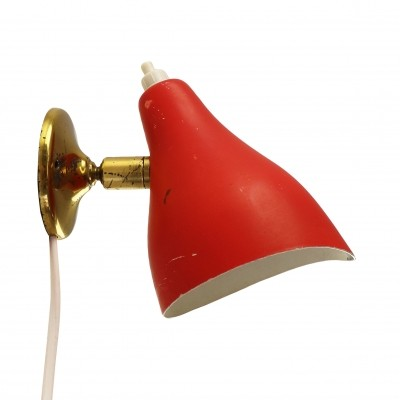 Red fifties wall light by Stilux Milano