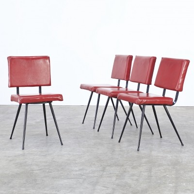 Set of 4 dinner chairs from the seventies by unknown designer for Brabantia