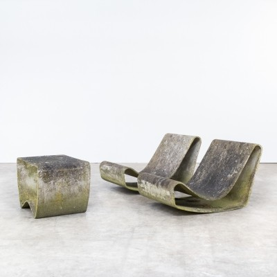 Set of 2 lounge chairs from the fifties by Willy Guhl for Eternit SA