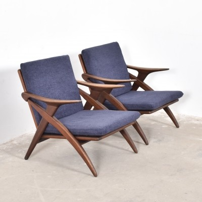 Set of 2 lounge chairs from the fifties by unknown designer for De Ster Gelderland