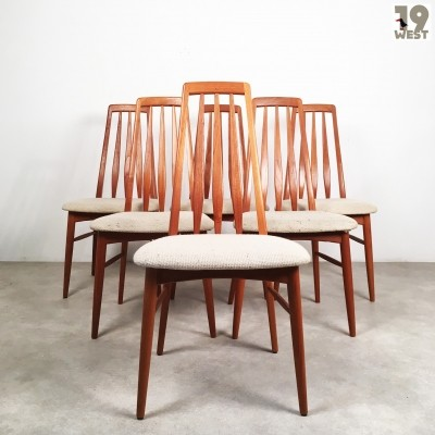 Set of 6 Eva dinner chairs from the sixties by Niels Koefoed for Koefoeds Hornslet