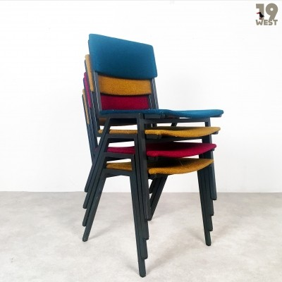 4 dinner chairs from the fifties by unknown designer for unknown producer