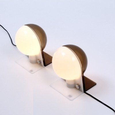 Set of 2 Sirio desk lamps from the sixties by Brazzoni E Lampa for Guzzini