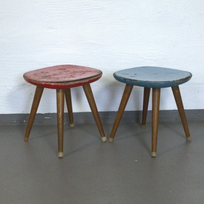 Stool children furniture from the fifties by unknown designer for unknown producer