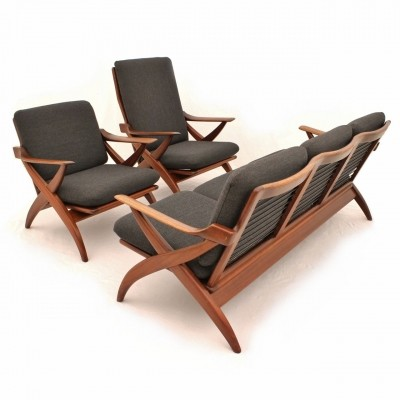 Dutch teak seating group from the fifties by Topform
