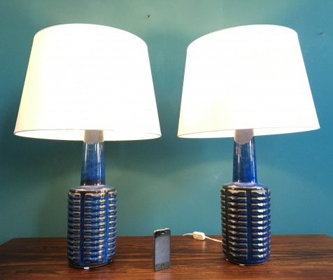 2 desk lamps from the seventies by Einar Johansen for Søholm