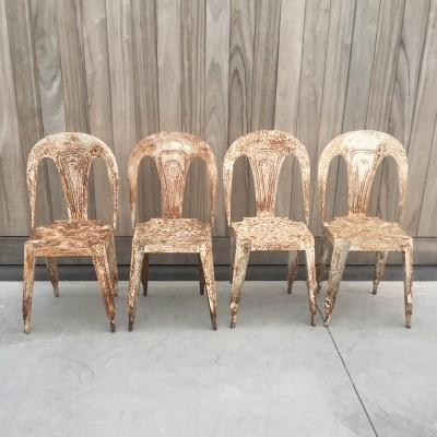 Set of 4 arm chairs from the thirties by unknown designer for Fibrocit