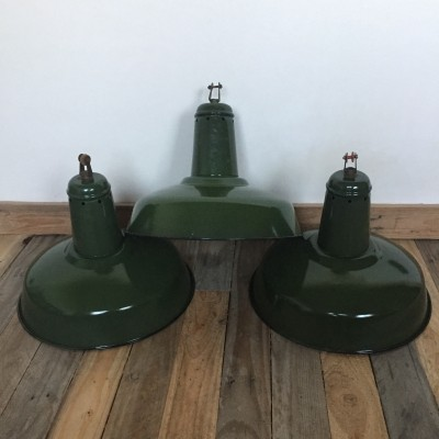 3 hanging lamps from the sixties by unknown designer for unknown producer