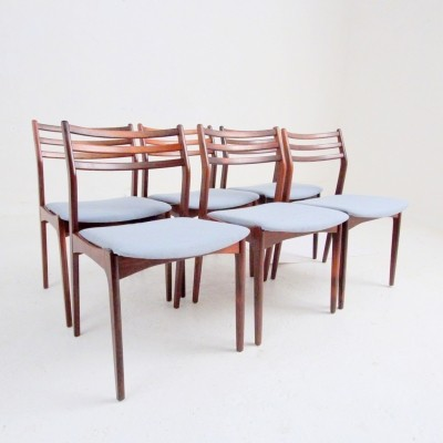 Set of 6 dinner chairs from the fifties by Vestervig Eriksen for Brdr. Tromborg