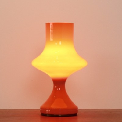 Orange Venini Glass Table Lamp