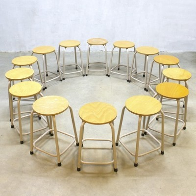 Set of 14 stools from the sixties by unknown designer for unknown producer