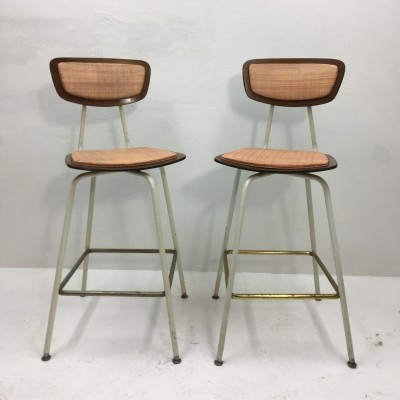 Set of 2 stools from the sixties by unknown designer for Daystrom Furniture