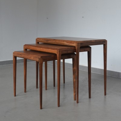 Set of 3 nesting tables from the sixties by Johannes Andersen for CFC Silkeborg