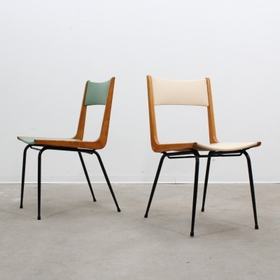 Set of 2 dinner chairs from the fifties by Carlo de Carli for unknown producer