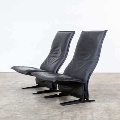 Pair of F784 Concorde lounge chairs by Pierre Paulin for Artifort, 1960s